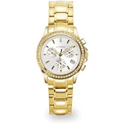 LA FROXX LADY LUCK Damen Armbanduhr Chronograph Quartz Edelstahl IP gold 7879.45.91