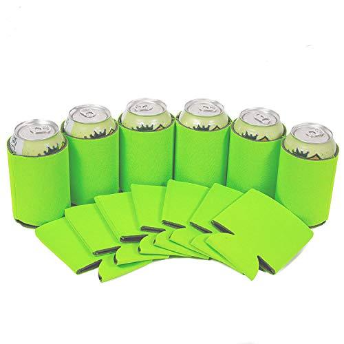 TXVSO Home 6st Neopren Bier Leer können Flaschenkühler Sleeves 330ml, Erfrischungsgetränk, Economy Bulk, zusammenklappbarer Isolator, ideal für BBQ-Hochzeiten, grün