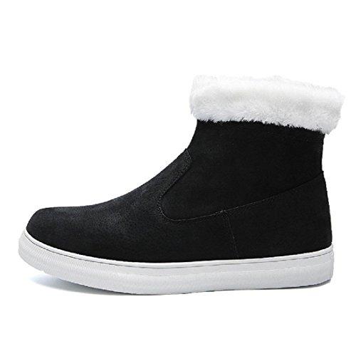 Uomo Inverno Scarpe di cotone Plus cashmere Tenere caldo Scarpe casual Confortevole Ballerine All'aperto Scarpe da diporto euro DIMENSIONE 39-44 black