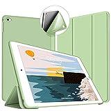 VAGHVEO Custodia per iPad Air 2, Ultra Sottile e Leggere [Auto Svegliati/Sonno] con Protezione Elevato Morbido TPU Soft Silicone Smart Cover Case per Apple iPad Air 2 (Modelli A1566 A1567), Verde_02