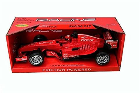 Spielzeug F1 2017 Toys Spielzeug für Jungs Rennwagen on race Racing Cars Race Track Sets Rot 1:18 [26 см] Knder Spielzeug Garage Spielzeug Modell Auto Cars Spielzeug Jungen (Diecast Pit)