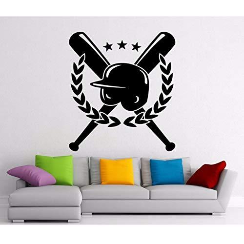 Mhdxmp Wandaufkleber Baseball-Hut Dekoration Viny Art Wall Poster Abnehmbare Wandbild Zimmer Innen Aufkleber 57 * 64 Cm (Baseball-hüte Japanische)