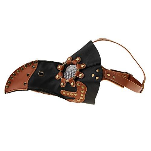 B Baosity Pest Doktor Herrenkostüm Pestmaske Schnabelmaske Vogelmaske Lange Schnabel Maske für Halloween Fasching Karneval Prop Punk ()