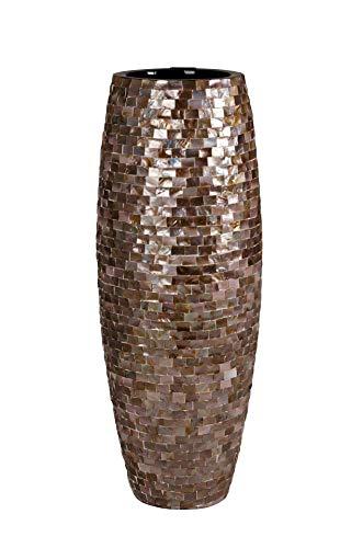 Vivanno Exklusives Pflanzgefäß Magnum aus Fiberglas 100 cm, Dark Perlmutt