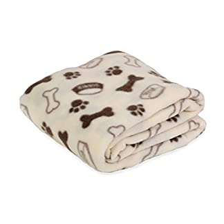 Octave® Pets Printed Pet Blanket – 120cm x 120cm [Approx] [Size One Size, Colour Cream] 41VRCF2wgiL