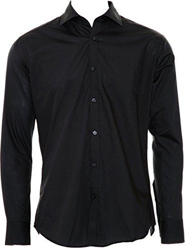 Kustom Kit-Maglietta Slim Fit, da visita Black