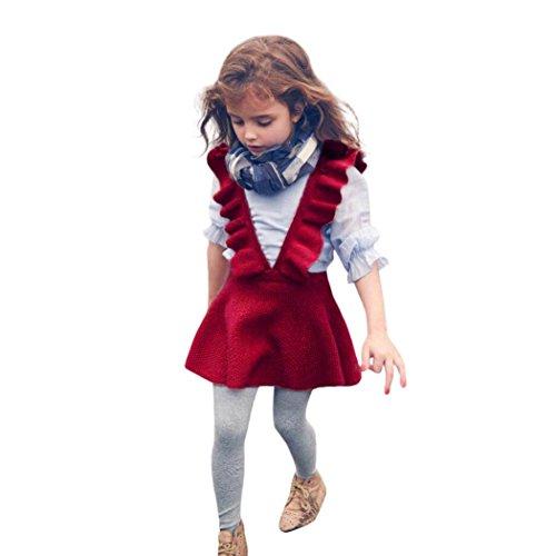 Amlaiworld Baby Mädchen Niedlich Stricken Band Kleider Mode Kleinkind bunt warm röcke,1-6 Jahren (6 Jahren, ()