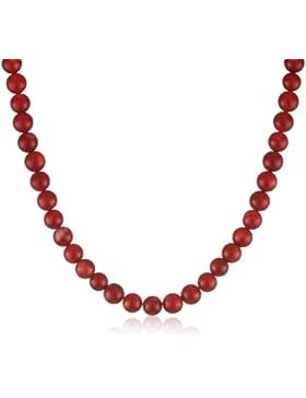 Antonio Bocceri Damen-Collier Koralle Sterlingsilber 925 Bambuskoralle Rot 45 cm HEJ176-1-001