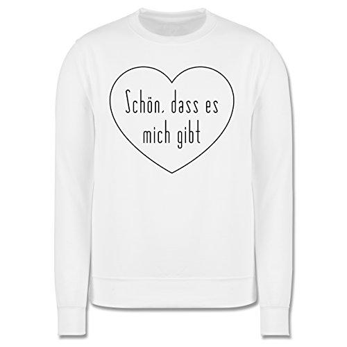 Statement Shirts - Schön, dass es mich gibt - Herren Premium Pullover Weiß