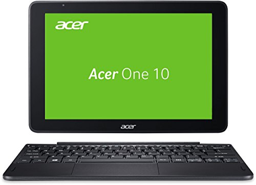 Acer One 10 (S1003-1298) 25,65 cm (10,1 Zoll, HD, IPS, Multi-Touch) 2-in-1 Notebook (Intel Atom x5-Z8350, 2GB RAM, 32GB eMMC, SD Kartenleser, Win 10) schwarz