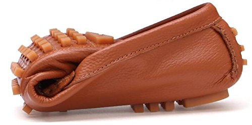 Loafers Peep Toe Leder Slip-ons Low Top rutschfeste Mode Bequeme Soft Soles Freizeit Casual Herrenschuhe EU Größe 39-44 Brown