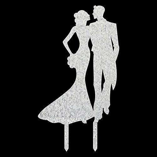 Lanlan Herr und Frau Love durch Augen Hochzeit Tortenaufsatz Acryl Shining Bride Groom Engagement Jahrestag Kuchen Dekoration, (Kuchen Seuss Dekorationen Dr)