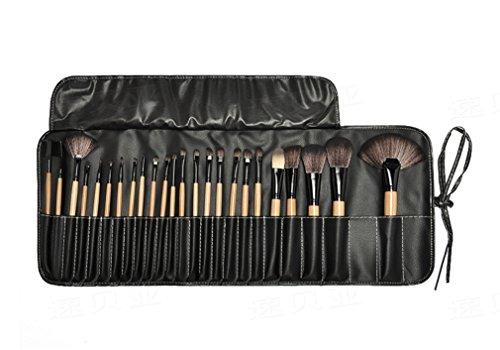 Pure Vie® Pro 24 Pcs Pennelli Trucco + 1 Spugnetta Fondazione Puff + 15 Colori Correttore Cosmetico Camouflage Palette Trucco - Adattabile a Uso Professionale che Privato