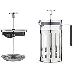 MW Creations Cafetera de émbolo con marco, mango y tapa en acero inoxidable, Prensa Francés 3 taza / 350 ml
