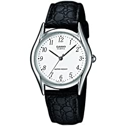 Casio-MTP - 1154PE - 7BEF-Collection Men's Watch Analogue Quartz White Dial Black Leather Strap