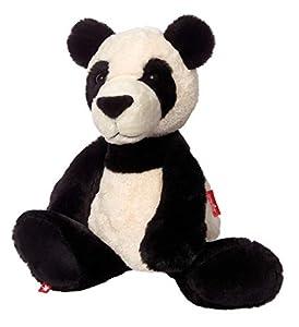 Sigikid pie 42267Serie Sweety Peluche de Peluche-Peluche de Oso Panda shaggi Shanghai, 40cm, Color Negro/Blanco