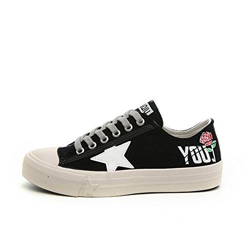 Lady Street Racchetta Canvas Shoes,Wild Scarpine Bianche,Brutte Piccole Scarpe Sporche,Scarpe Consiglio Di Studente C