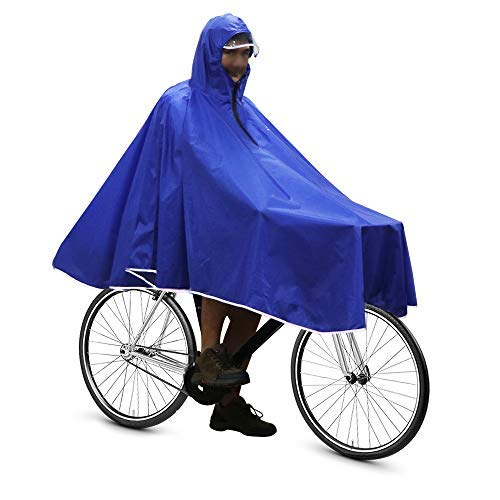 Anyoo Waterproof Rain Poncho Bike Bicycle Rain Coat Jacket Capes Lightweight Compact Reusable for Boys Men Women Adults