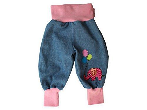 """Baby Jeanshose """"Elefantenparty"""" Gr. 62 - 104 von Kleine Könige Größe 86/92, Farbe rosa"""