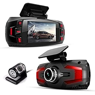 Range Tour Z4 Plus Dual In Car Dash Cam Camera DVR Digital Driving Video Recorder Front Cam170°Wide Ang Rear View 120°Wide Angle, Loop Recording, G-sensor,Motion Detection