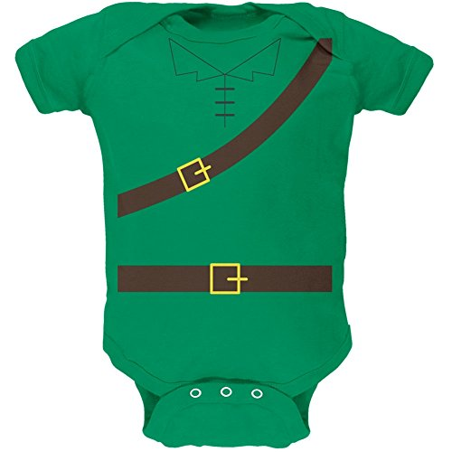 Halloween Robin Hood Kostüm grün weiches Baby 1 Gepäckstück - 18-24 (Baby Kostüm Robin)