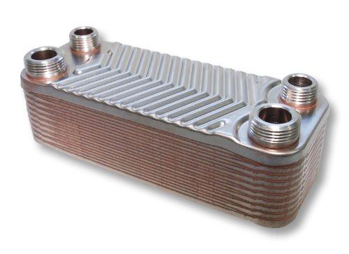 Hrale Edelstahl Wärmetauscher 20 Platten max 44 kW Plattenwärmetauscher Wärmetauscher (20-platten-wärmetauscher)