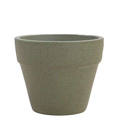 Demarkt Kaktus Pflanze Topf Sukkulenten Pflanze Topf Keramik Grün 9.5*7.5cm -
