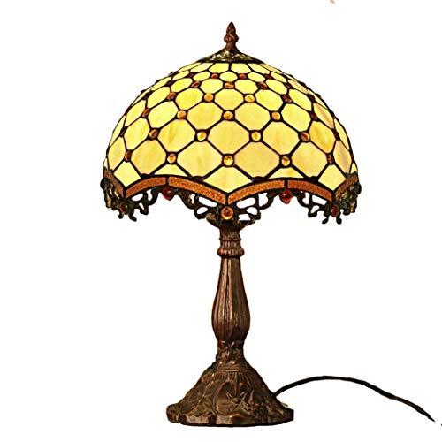 40w Nacht Licht (DSHBB Tiffany Style Table Lampe, romantisch, europäischer Stil gestfesselte Glastisch Lichter, Retro Living Room, Schlafzimmer Dekoration Nacht Licht 40W,A)
