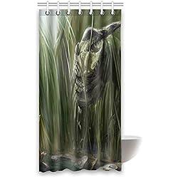 "Personalizado dinosaurio (1) cortina de ducha 36""(W) 66"" x 72(H) cm tela de poliéster resistente al agua, One-Side impresión (7agujeros), poliéster, Dinosaur(3), 36x72(inches)"