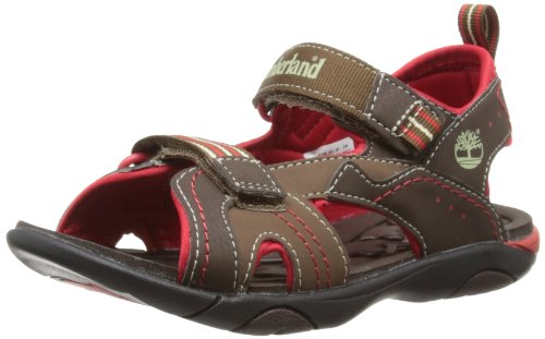 Timberland Sport Casual Sandal FTK_Dune Buggy 2 Strap 3771R, Sandali ragazzo, Marrone (Braun (Dark Brown with Red)), 33