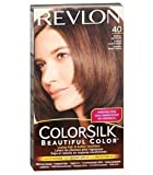 REVLON ColorSilk Beautiful Hair Color MEDIUM ASH BROWN (40) 130 ml with Ayur Freebie
