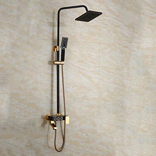 ZPSPZ-Duschsysteme Badezimmer Dusche Wasserhahn Set DREI Zentralen Block Multi - Funktions - Sprinkler Square Hat Klare Installierte Dusche Konstanter Temperatur Shower Dusche Ventil Eingestellt