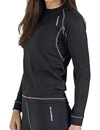 Camiseta térmica para mujer de manga larga, ideal para deportes de invierno (esquí,