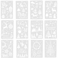 SUPVOX 12 Piezas de Dibujo de Pintura navideña para DIY Scrapbooking Stamp Album Decor