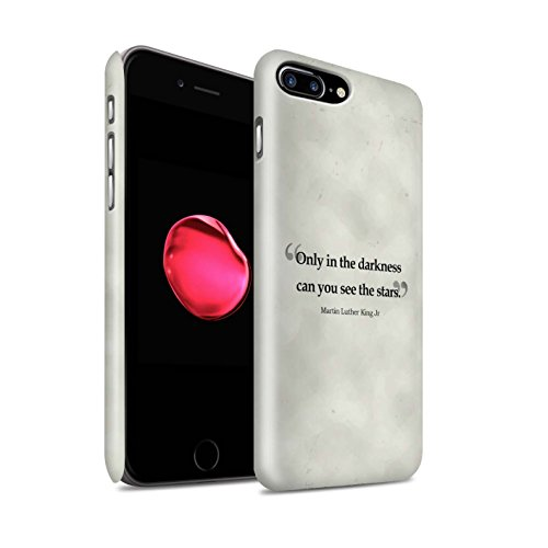 STUFF4 Matte Snap-On Hülle / Case für Apple iPhone 8 Plus / Stephen Hawking Muster / Berühmte Zitate Kollektion Martin Luther King