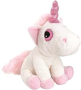 Suki Gifts Mystical Little Peepers Bella Unicorn Soft Boa Plush Toy (White and Pink, Small)