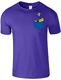 Pocket Minions hommes T-Shirt Drôle Serviteur Tshirt
