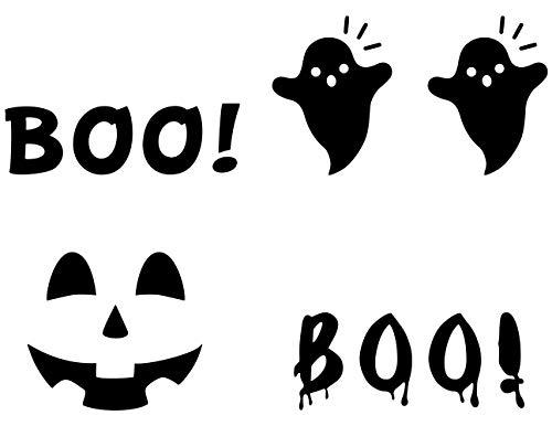 MozamyCreative Halloween-Boo Aufkleber für die Vordertür, Halloween, Veranda, Dekoration, Halloween, Türaufkleber, Jack-o-Lantern-Tür-Aufkleber, Halloween-Dekoration (Türen Für Halloween-dekoration)