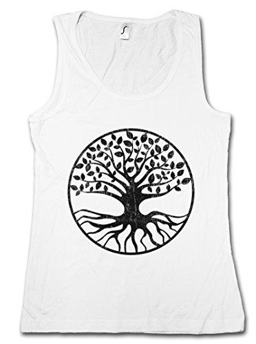 Yggdrasil V Mujer Camiseta Sin Mangas Women Tank Top - Yggdrasill árbol de la Vida mitología nórdica Arsen Celtic Irminsul Tree Loki of Life of Thor Odin Odhin Life Tamaños S – XL