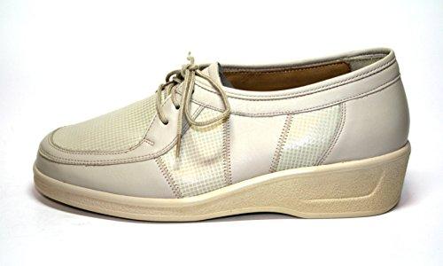 Ganter Comfort-Vario 78 849 Damen Schuhe Halbschuhe, Weite G Weiß (leinen)