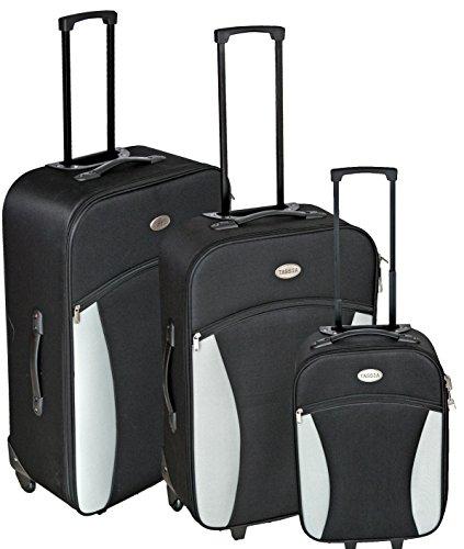 Trolley in Handgepäcksgröße - Koffer mit Rollen - Schwarz / Grau - Koffer Schwarz / Grau - Koffer