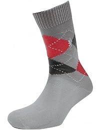 Herren 1 Paar Pringle of Scotland 6 Messer Cotton Socken mit Rautenmuster in 9 Farben