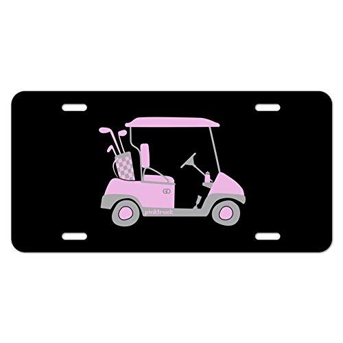 Pink Golf Cart Neuheit Metall Vanity Tag License - Plate License Cover Pink