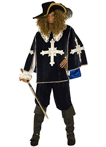 Luxe Mousquetaire Kostüm (Kostüm Musketier des Königs Herren Erwachsene,)