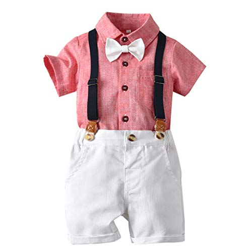 Sanahy Baby Kleidung Babykleidung Jungen Strampler Bekleidungssets Anzug Kinder Taufanzug Neugeborenen Set MäDchen Kleinkind Boys Gentleman Fliege T-Shirt Tops Shorts Overalls Outfits