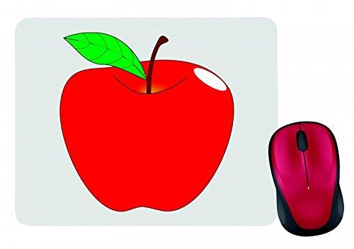 tapis-de-souris-apple-de-rouge-de-feuille-de-jonc-de-vie-de-fruits-a-moyen-sain-aquariums-deau-douce