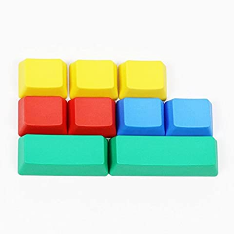 Feicuan Mechanical claviers DIY Replacement RGBY PBT 9 Keycaps
