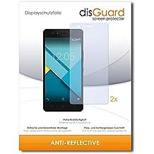 2 x disGuard Anti-Reflective Lámina de protección para BQ Aquarius M5 / M-5 - ¡Protección de pantalla antirreflectante con recubrimiento duro! CALIDAD PREMIUM - Made in Germany