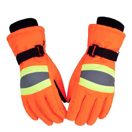 LIOOBO Winterarbeitshandschuhe Anti-Wasser-Reflexstreifen Winddichte Reithandschuhe Hände Schutzhülle für den Winter Klettern Outdoor-Arbeitsaktivität Ausrüstung 1 Paar