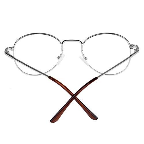 Forepin® Unisex Ovale Montatura Occhiali da Vista Occhio Frame Struttura Vetri Ottici Pianura rotonda vetro Plain completa-Rim Occhiali (Stile 1) 4nxBlSgr7i